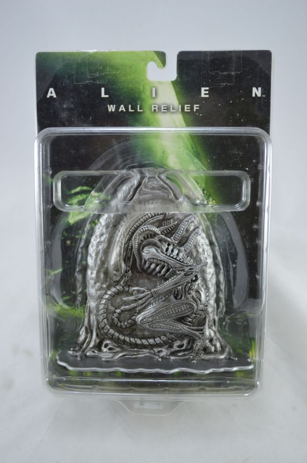 Alien and Egg Wall Relief Silver Version
