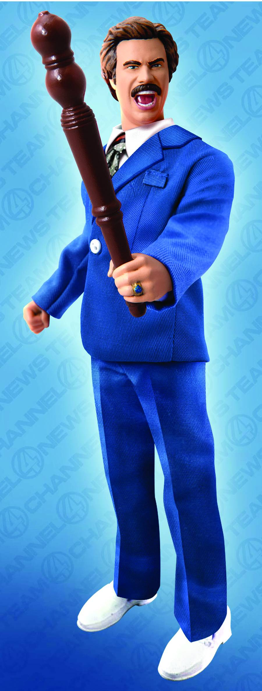Anchorman Battle Ready Ron Burgundy Retro Figure