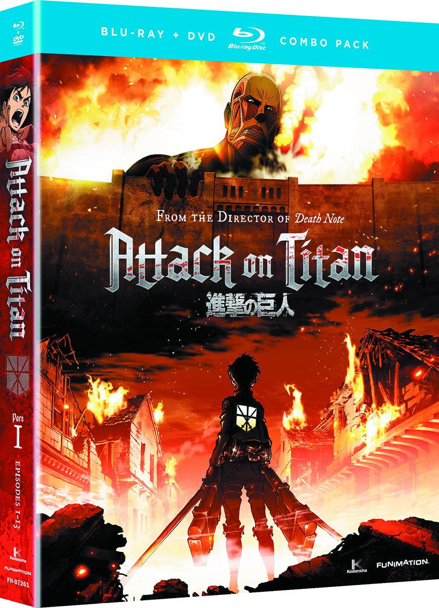 Attack On Titan Limited Edition Blu-Ray DVD Set Pt 1
