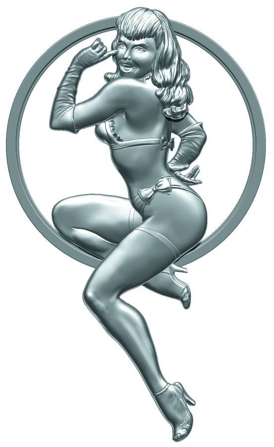 Bettie Page Girl of Our Dreams Sculpted Metal Pin
