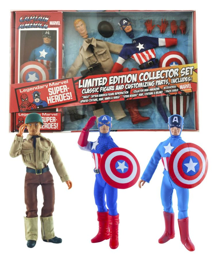 Marvel Captain America 8 Inch Retro Figure Set