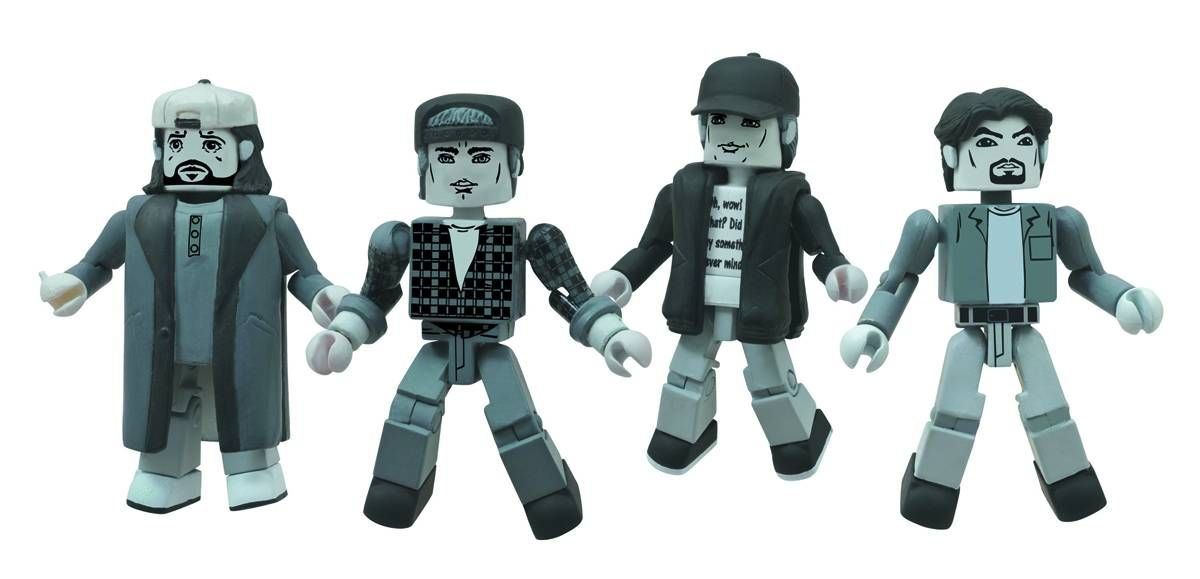 Clerks 20th Anniversary Black and White Minimates Set