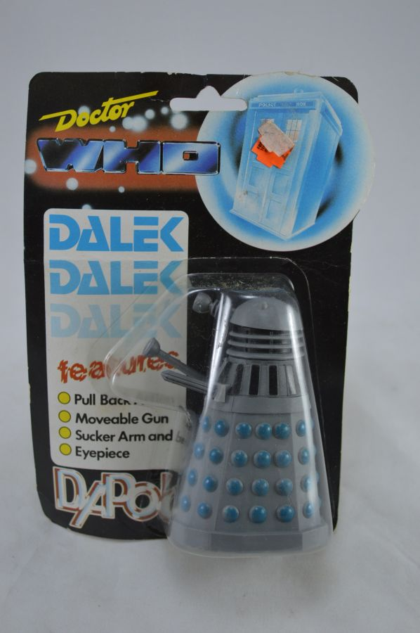 Vintage Doctor Who Dalek Gray and Blue Version Figure