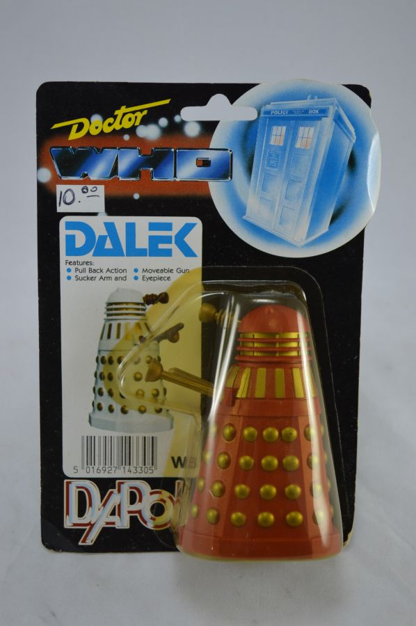 Vintage Doctor Who Dalek Red and Gold Version Figure