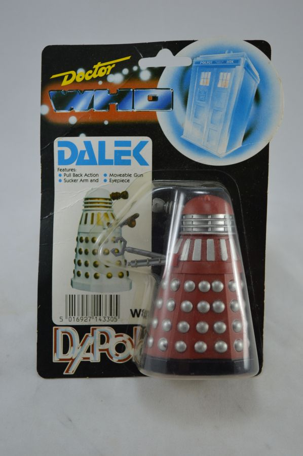 Vintage Doctor Who Dalek Red and Silver Version Figure