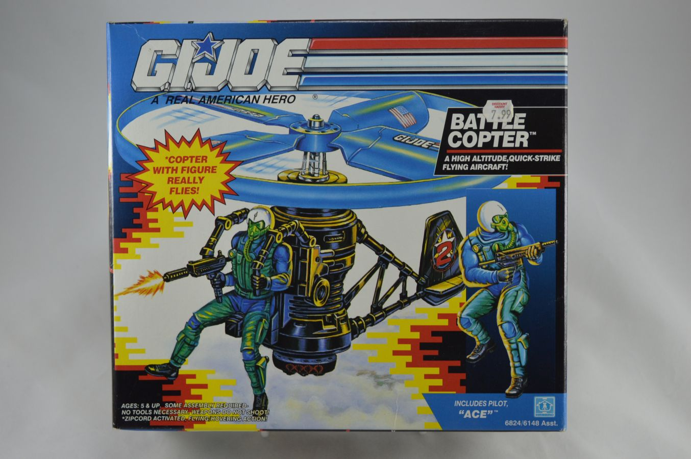 GI Joe Battle Copter with Ace Vehicle MIB Vintage