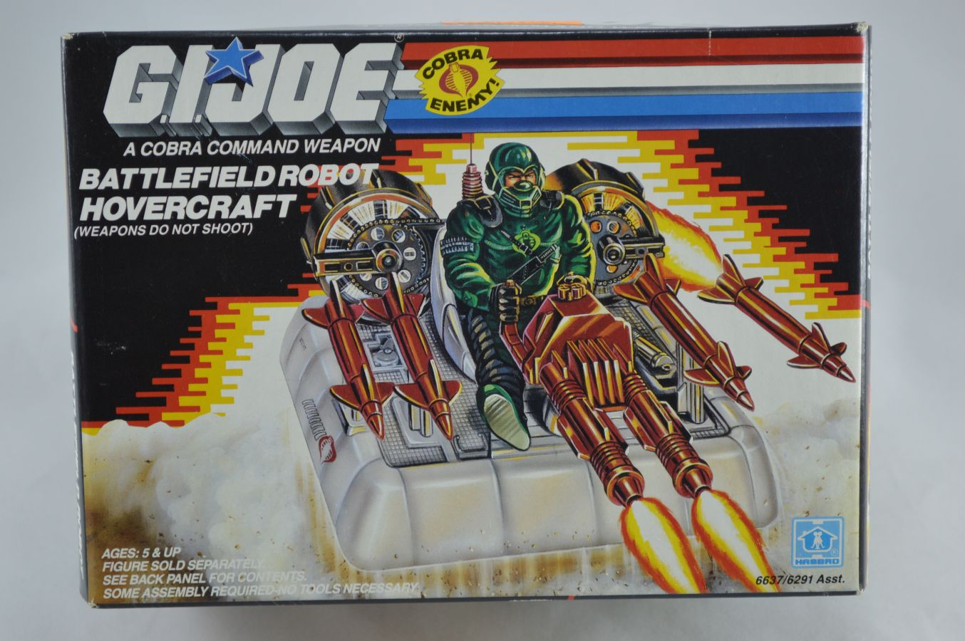 GI Joe Battlefield Robot Hovercraft Vehicle MISB Vintage