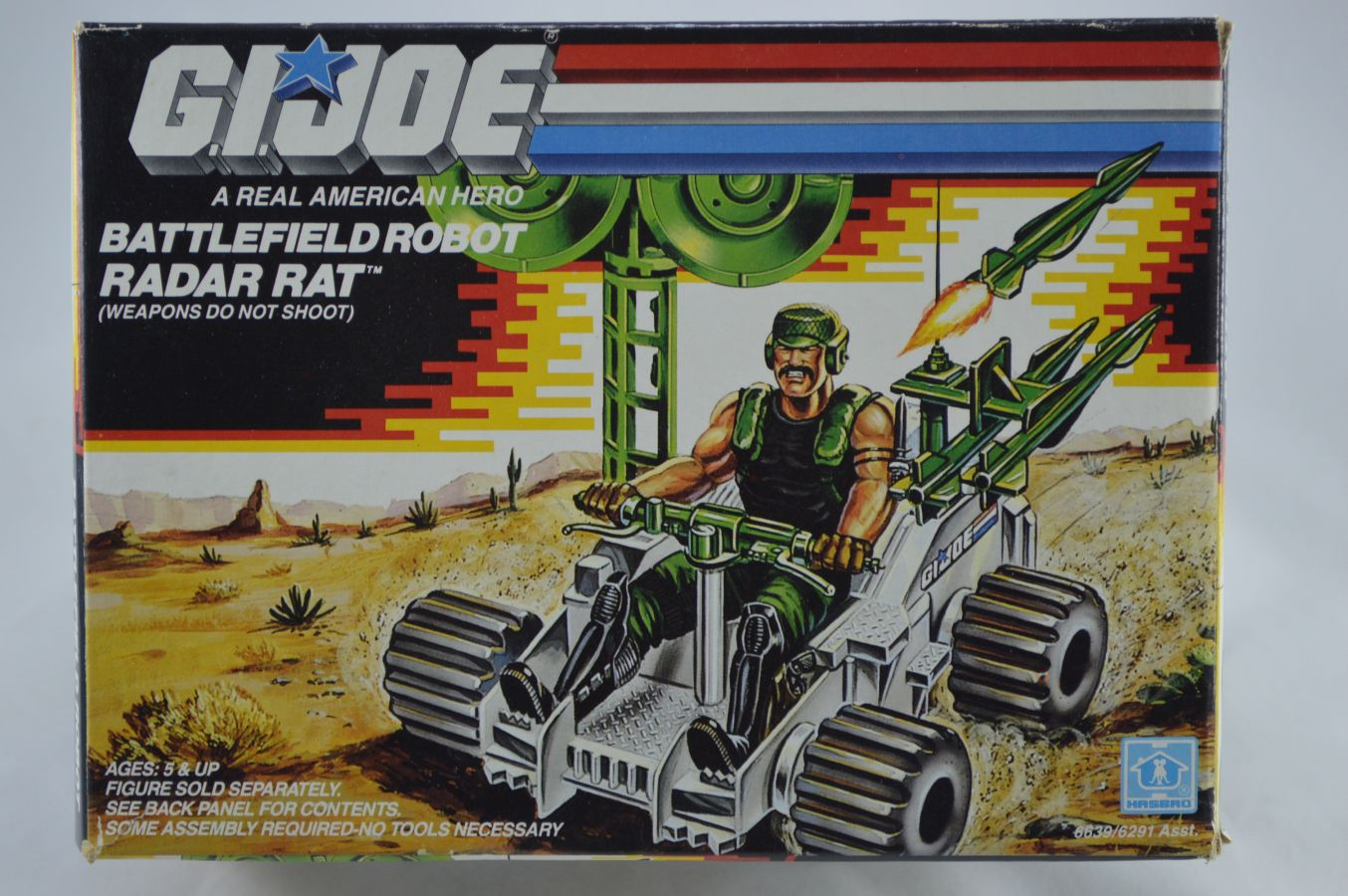 GI Joe Battlefield Robot Radar Rat Vehicle MIB Vintage