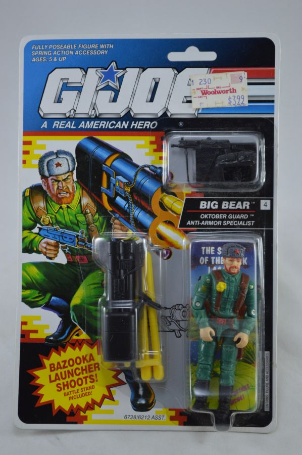 GI Joe Big Bear Figure MOC Vintage