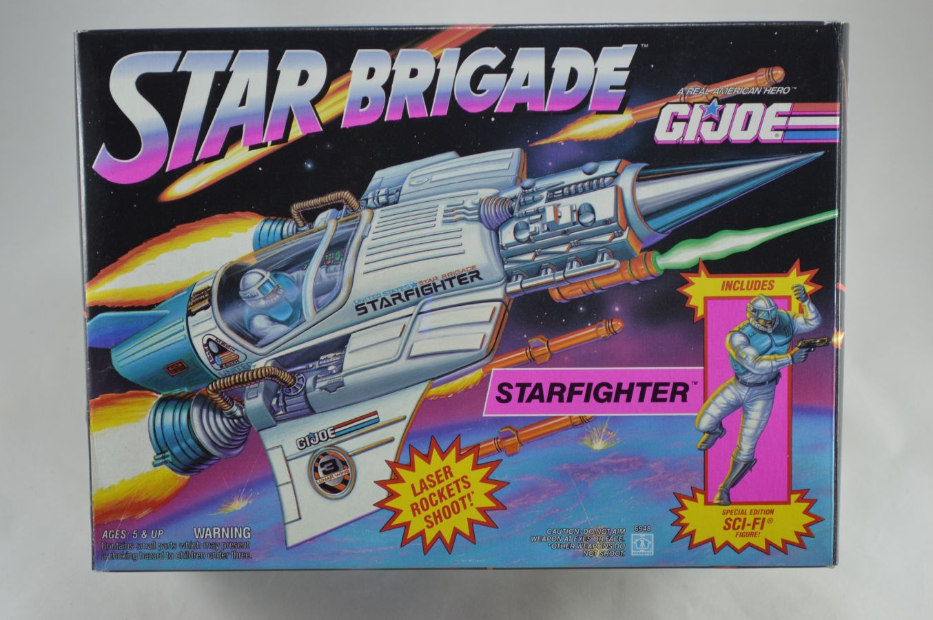 GI Joe Star Brigade Starfighter Vehicle MIB Vintage