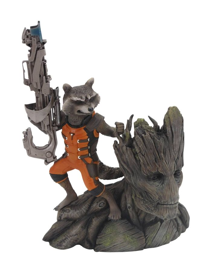 Guardians of the Galaxy Rocket Racconn Groot ArtFx Statue