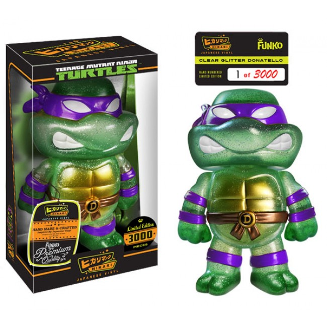 Hikaril Glitter Donatello Teenage Mutant Ninja Turtles Sofubi Figure