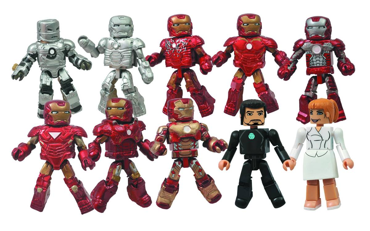 Iron Man 3 Hall of Armor Minimates Set