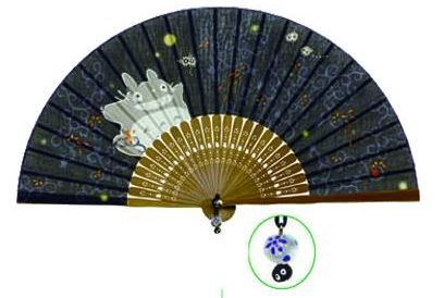 My Neighbor Totoro Tang Patterm Hand Fan