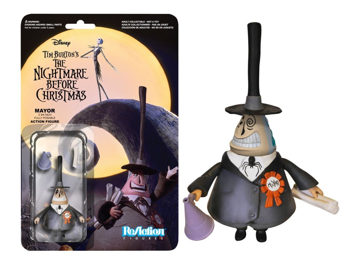 Nightmare Before Christmas Mayor ReAction Figure