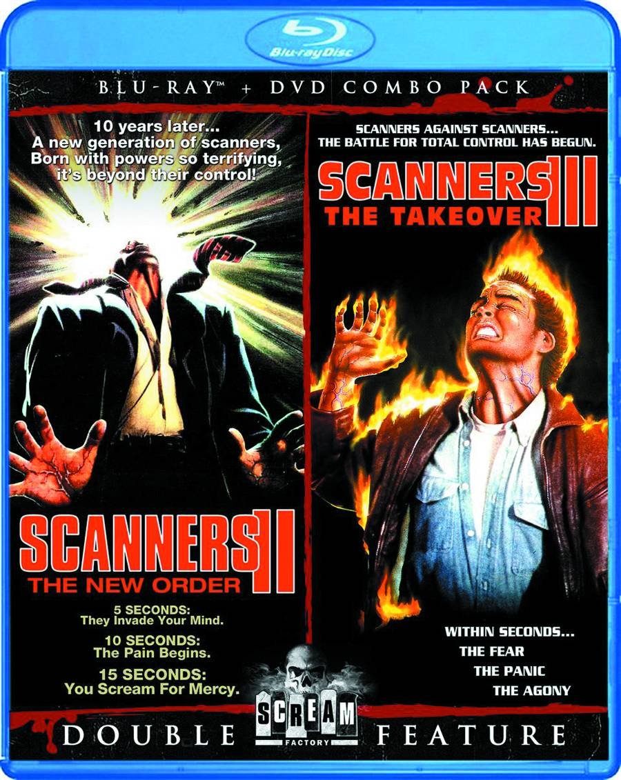 Scanners 2: The New Order & 3: The Takeover Blu-Ray