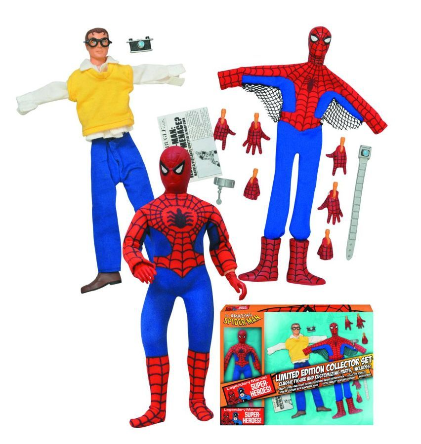 Marvel Spider-Man 8 Inch Retro Figure Set