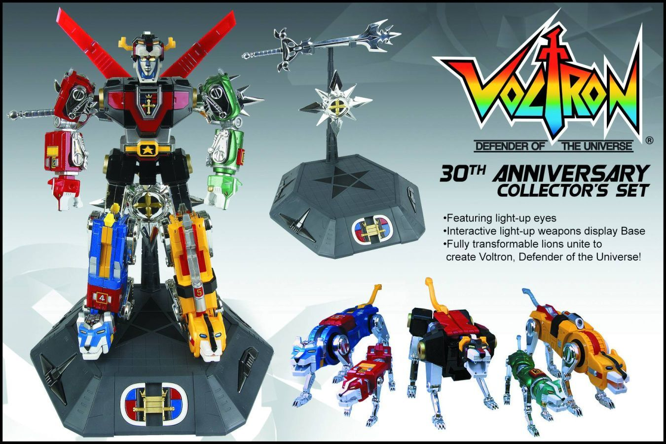 Voltron 30th Anniversary Action Figure Set